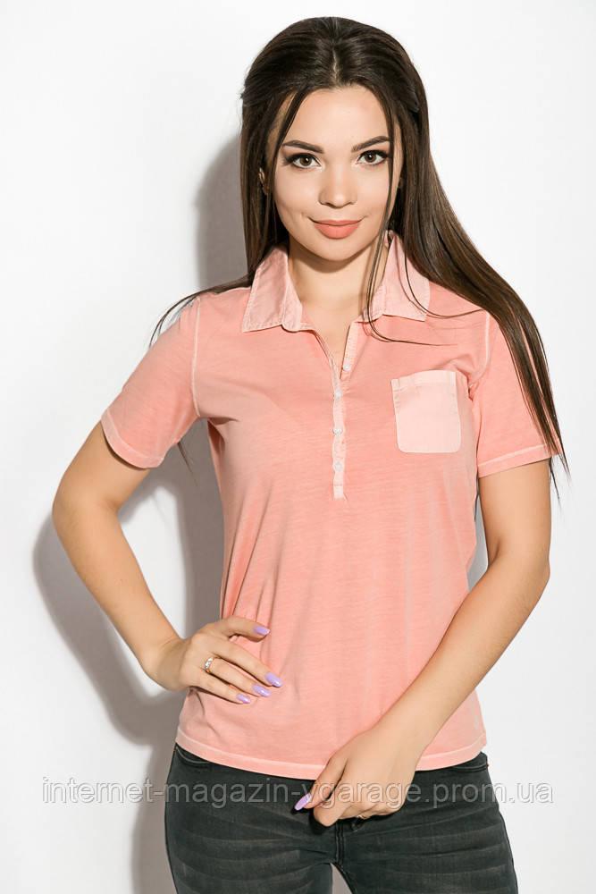 Поло женское 516F439-3 цвет Персиковый варенка