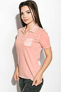 Поло женское 516F439-3 цвет Персиковый варенка, фото 4