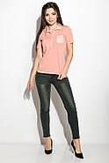 Поло женское 516F439-3 цвет Персиковый варенка, фото 5
