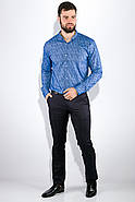 Рубашка 511F015 цвет Голубой, фото 4