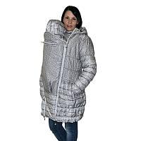 Зимняя слингокуртка  (серый принт)