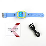 Смарт-часы детские JETIX Tiny 2 Kid GPS с виброзвонком и WiFi  (Blue), фото 4