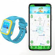 Смарт-часы детские JETIX Tiny 2 Kid GPS с виброзвонком и WiFi  (Blue), фото 2