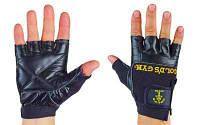 Перчатки спортивные многоцелевые кожаные GOLDS GYM BC-3609 размер XS-XXL черный Код BC-3609