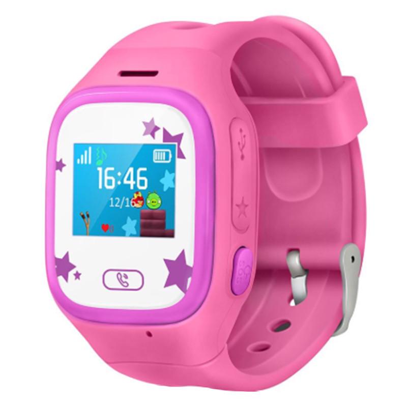 Смарт-часы детские JETIX Tiny 2 Kid GPS с виброзвонком и WiFi(Pink)