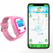 Смарт-часы детские JETIX Tiny 2 Kid GPS с виброзвонком и WiFi(Pink), фото 2