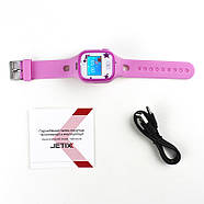 Смарт-часы детские JETIX Tiny 2 Kid GPS с виброзвонком и WiFi(Pink), фото 4
