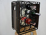 Подставка для вина настольная ЛОФТ - 12, фото 3