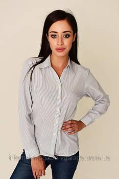 Рубашка женская 287V001-1 цвет Бело-синий