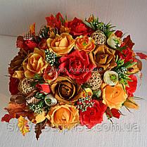 """Корзина с цветами из конфет """"Бархатная осень"""", фото 3"""