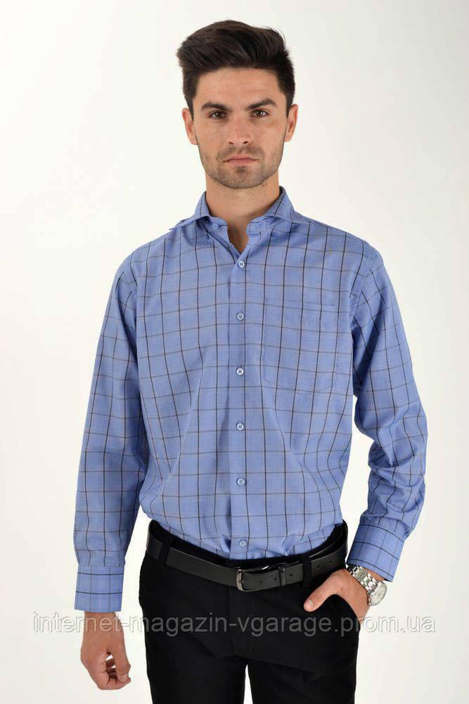 Рубашка 9021-26 цвет Синий