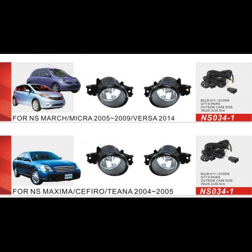 Противотуманные фары Vitol NS-034-1 Nissan Maxima/Cefiro/Teana 04-05 Altima Qashqai -08 Micra 05-09