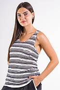 Майка женская 516F0019 цвет Бело-черный, фото 4