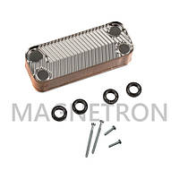 Теплообменник вторичный (16 пластин) для газовых котлов Ariston 65104333