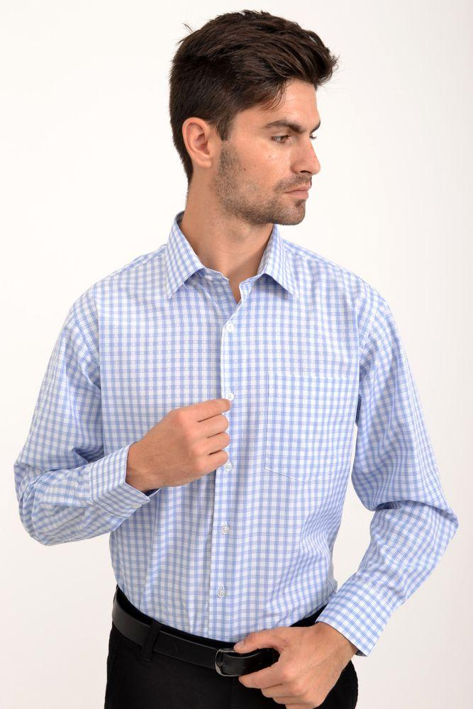 Рубашка 21#LS цвет Бело-синий