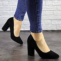 Туфли женские Nutella черные на каблуках 1494