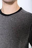 Свитер мужской 116R004 цвет Черно-коричневый, фото 2