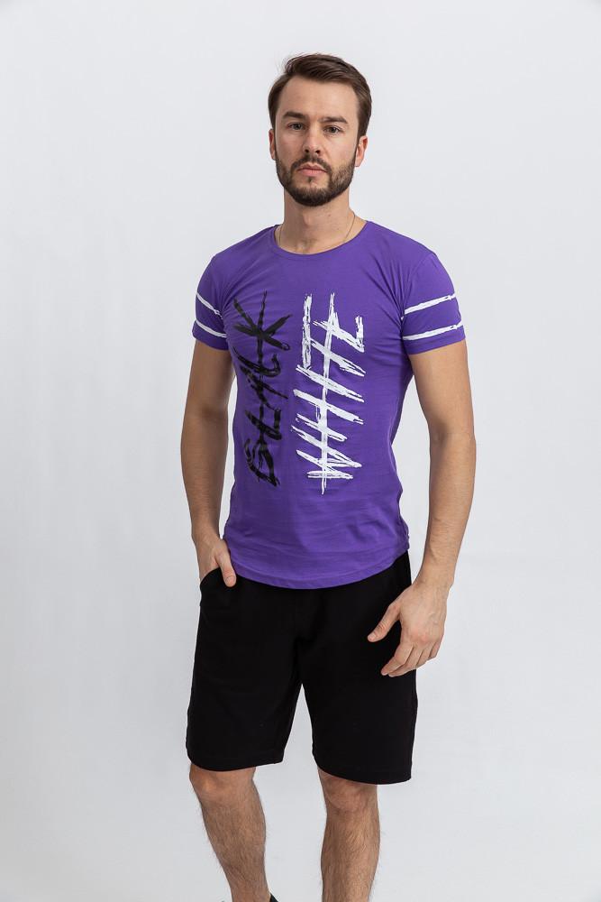 Футболка мужская 116R036 цвет Фиолетовый