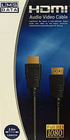 Кабель HDMI Audio Video Cable Full HD 1080 2m LMS Data