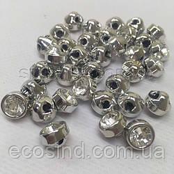 Пуговицы блузочные Ø-10мм цвет: серебро (1-2008-Ю-0002)