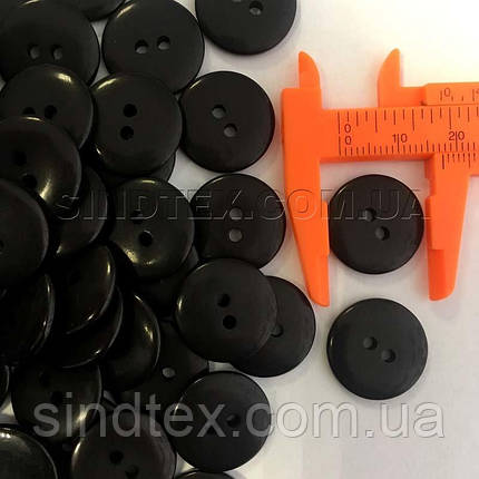 Пуговицы рубашечные Ø-17мм цвет: черный (2-БП-19), фото 2