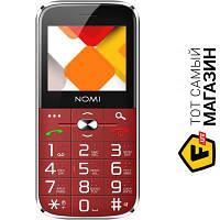 Nomi i220 Dual Sim Red мобильный телефон недорогие, для пожилых людей классический - красный