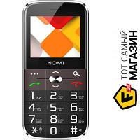 Nomi i220 Black мобильный телефон для пожилых людей, недорогие классический черный