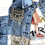 Летний джинсовый костюм на девочку. Размер  3 года, фото 2