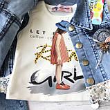 Летний джинсовый костюм на девочку. Размер  3 года, фото 5