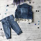 Летний джинсовый костюм на девочку. Размер  3 года, фото 6