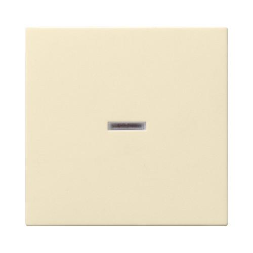 Клавиша 1-я с окошком для подсветки GIRA System 55 кремовый