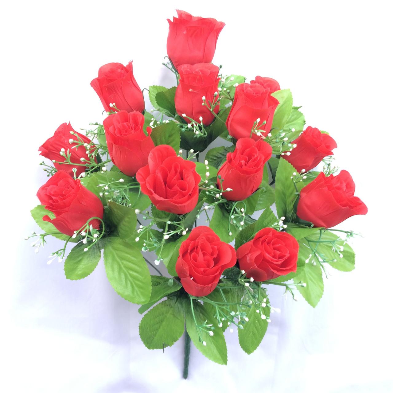 Букет бутоны роз, 52см (20 шт в уп)
