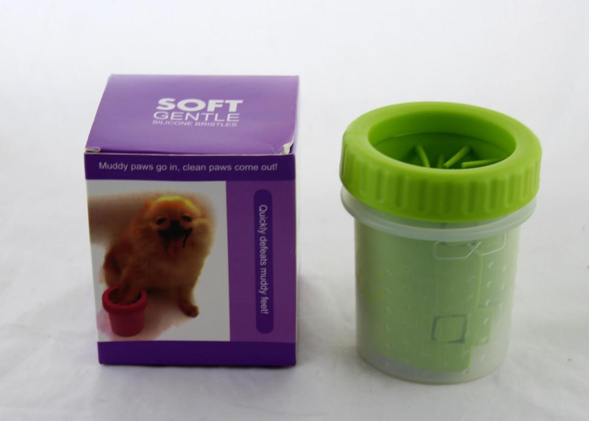 Стакан для мытья лап любимым питомцам Soft pet foot cleaner