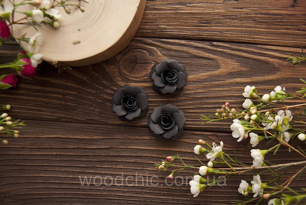 Набор Бумажные розы 108 чёрный