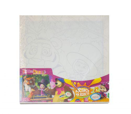 "Роспись на холсте ""Маша и Медведь"" Danko Toys М-РХ-02-09 ( TC42532)"