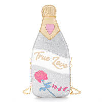 "Серебристая сумка в виде бутылки шампанского ""True love"""