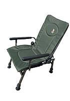 Кресло карповое Elektrostatyk F5R с подлокотниками и регулируемой спинкой (до 110 кг)