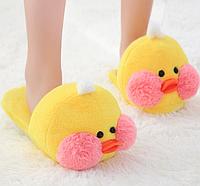 Женские тапочки игрушки желтые  Уточки