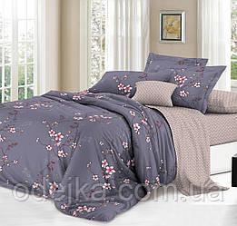 Полуторный комплект постельного белья 150*220 сатин (13945) TM КРИСПОЛ Украина