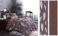 Полуторный комплект постельного белья 150*220 сатин (12452) TM КРИСПОЛ Украина