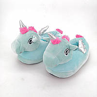 Женские тапочки игрушки Единороги с серебристыми крылышками