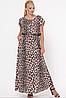 Летнее платье в пол с леопардовым принтом, с 52-58 размер