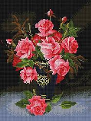 """Набір алмазної мозаїки """"Троянди у вазі"""" (30 х 40)"""