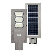 Led светильник 90W на солнечной батарее с датчиком движения и пультом. Светодиодный фонарь на столб