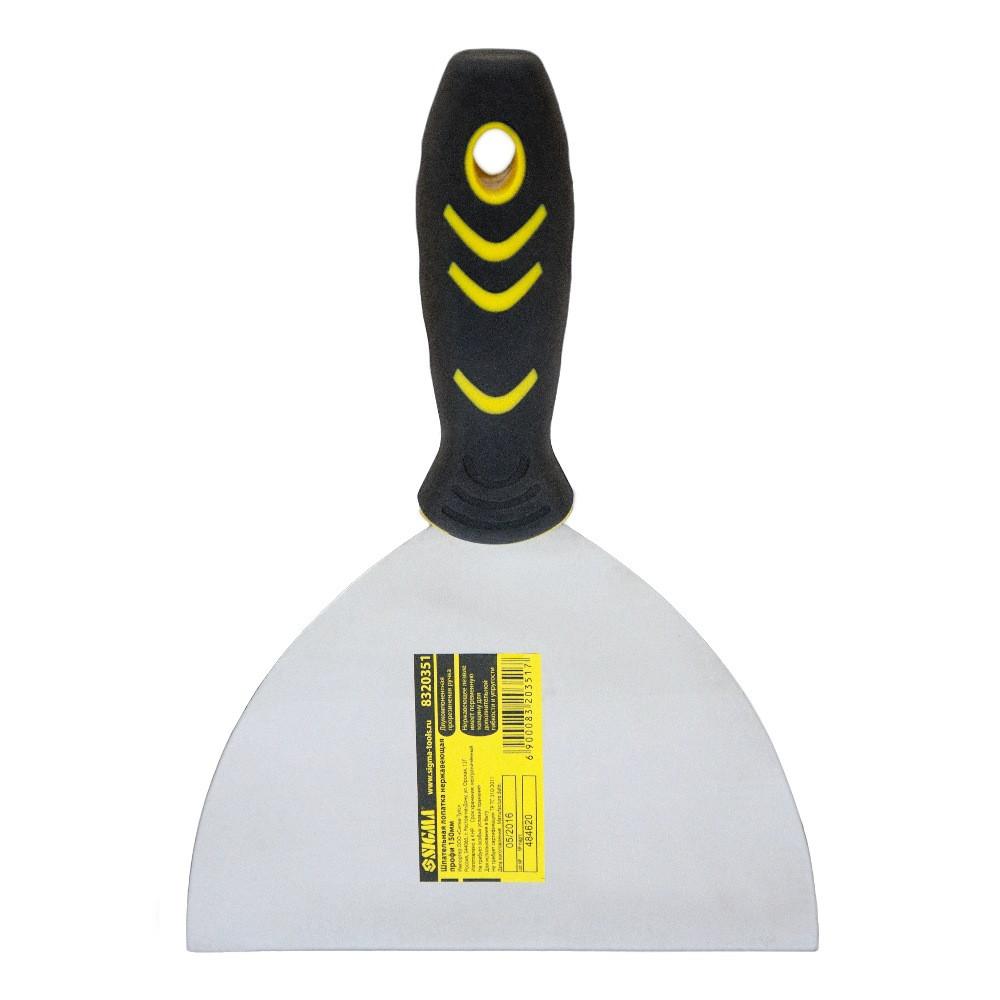 Шпательная лопатка Sigma нержавеющая профи 150мм (8320351)