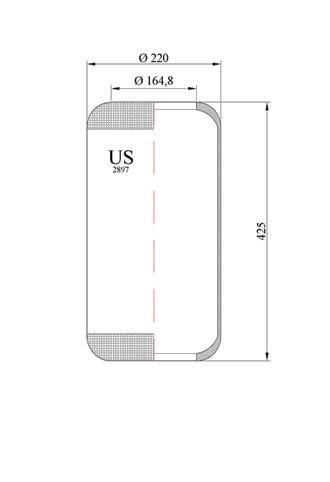 Пневмоподушках балон 2897-US