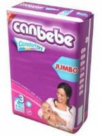 Подгузники CANBEBE Comfort dry JUMBO midi №3 (4-9кг), 62 шт