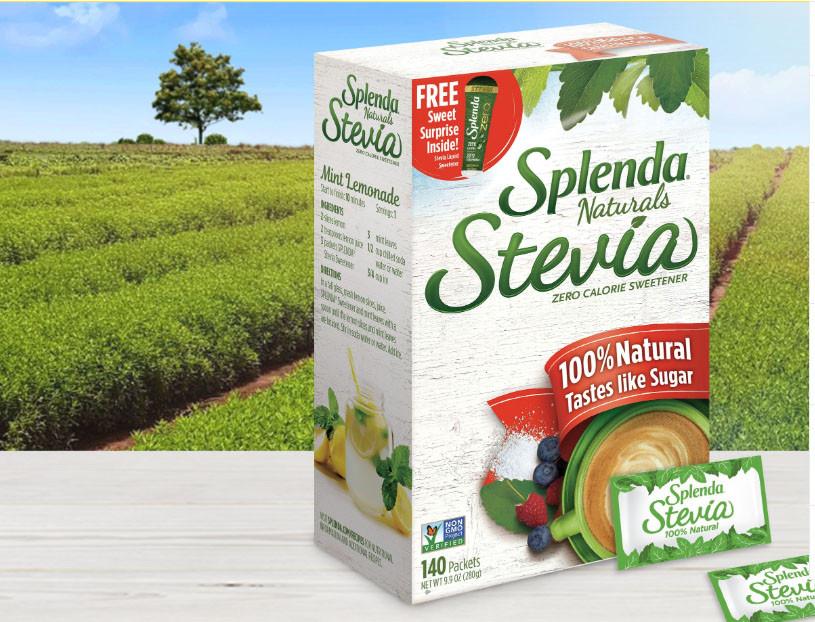 Стевия без горького послевкусия Splenda натуральный сахарозаменитель 140 стиков США 280 g