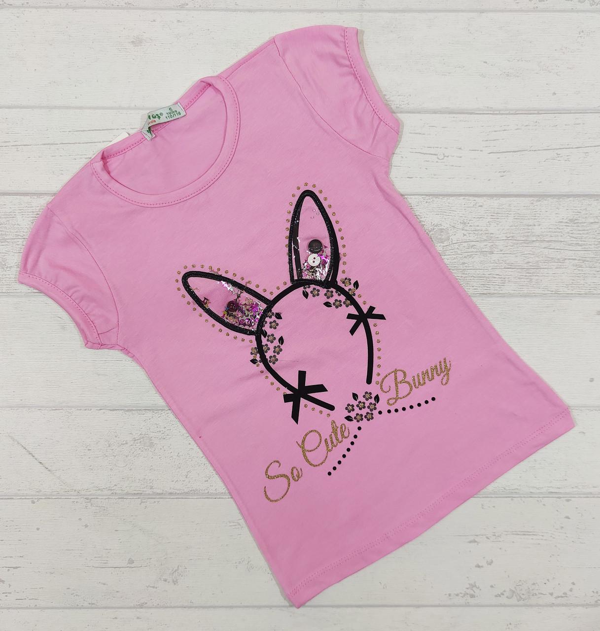 Детская футболка для девочек 5-8 лет