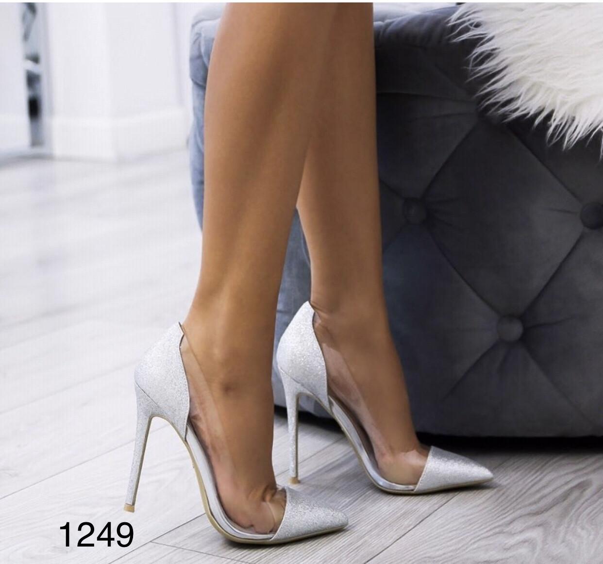 Туфли на выпускной,вечерние,блестящие серебро